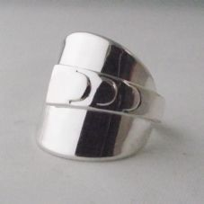Stunning 60th Gift Handmade Solid Sterling 925 Silver Spoon Ring dated 1957